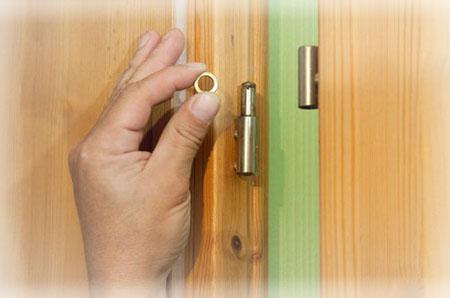 Как починить просевшую дверь своими руками в фото