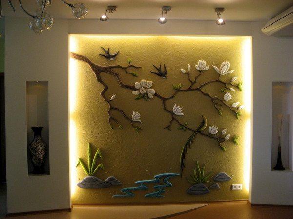 Декор из гипсокартона: основные элементы дизайна в фото