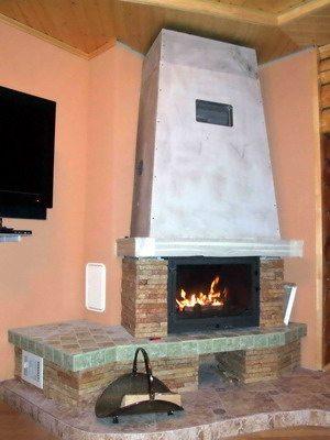 Декоративный угловой камин из гипсокартона своими руками в фото