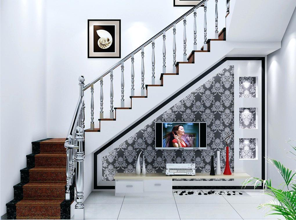 Тв-ниша под лестницей