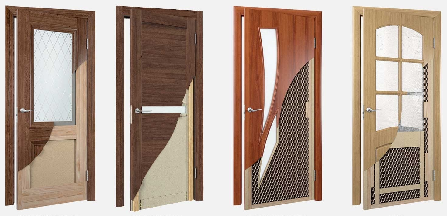Двери межкомнатные дуб - шпон