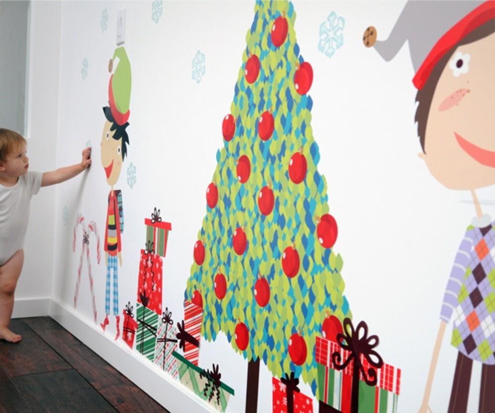 Как украсить стены в детском саду к новому году
