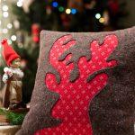 Декоративная подушка на Новый год своими руками