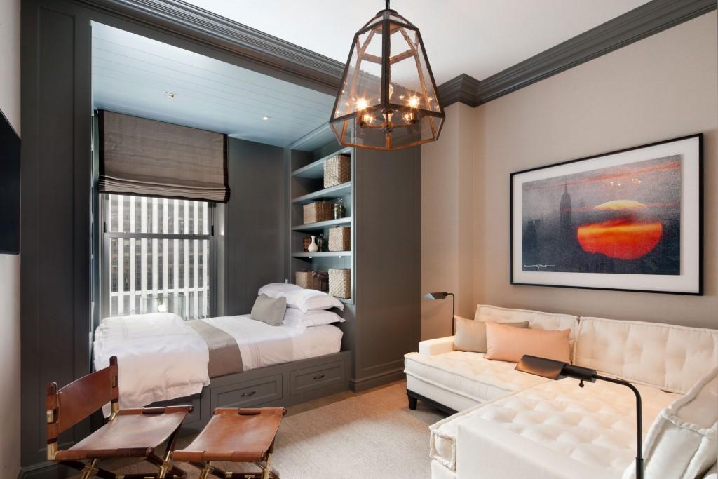 дизайн гостиной совмещенной со спальней