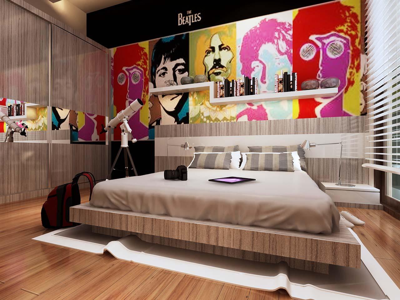 Цветной интерьер для разных комнат