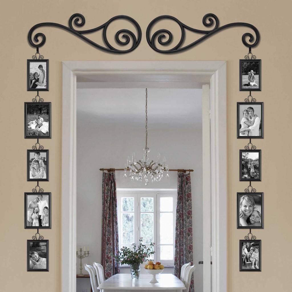 фоторамки на стене в интерьере