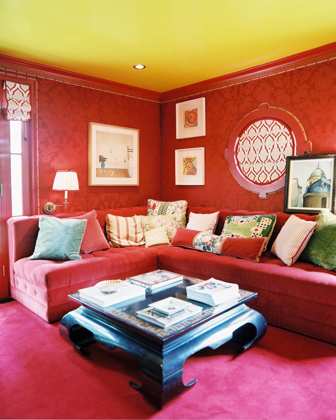 8 завораживающих цветов для стен гостиной