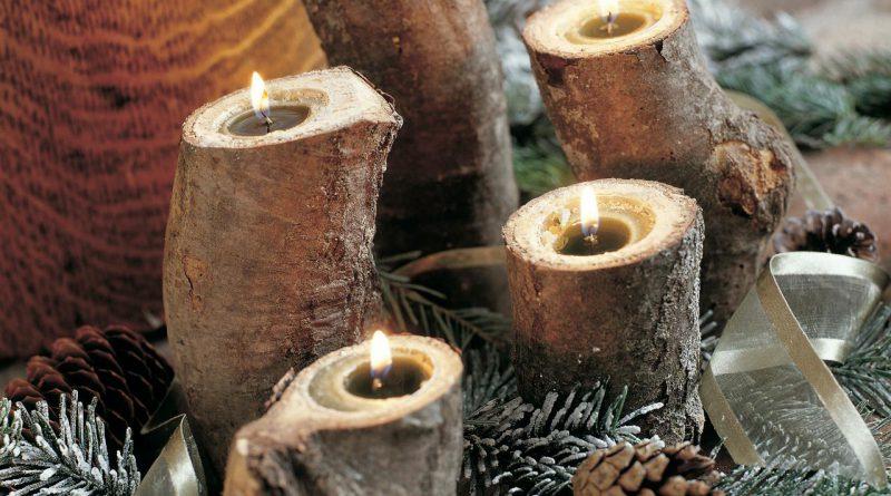 Декор свечей на Новый год своими руками