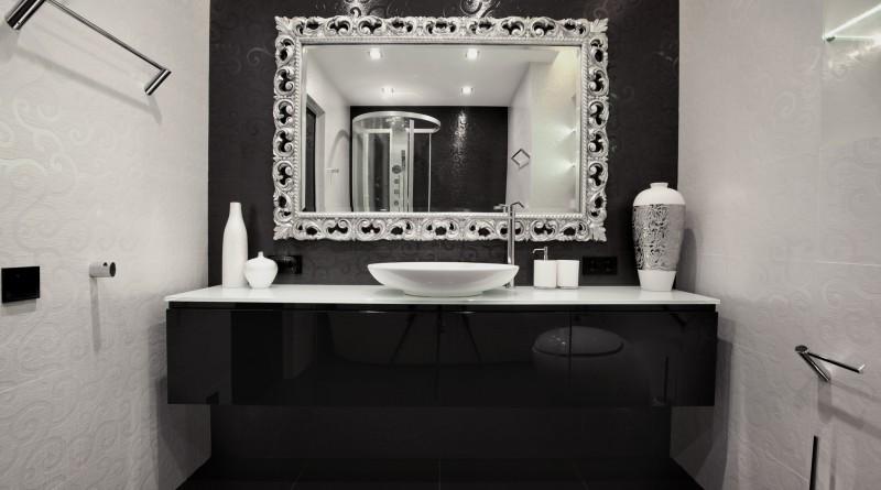 интерьер черно белый