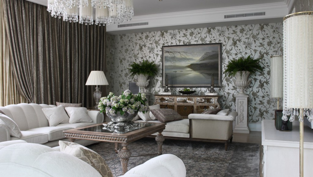 дизайн комнаты в сером цвете