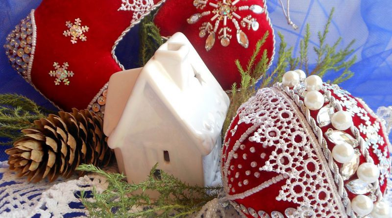 Новогодние игрушки на елку в русском стиле