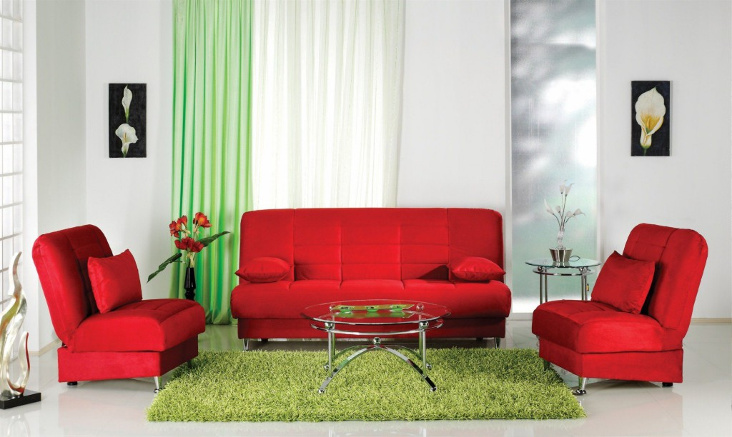 красный цвет и его оттенки в интерьере