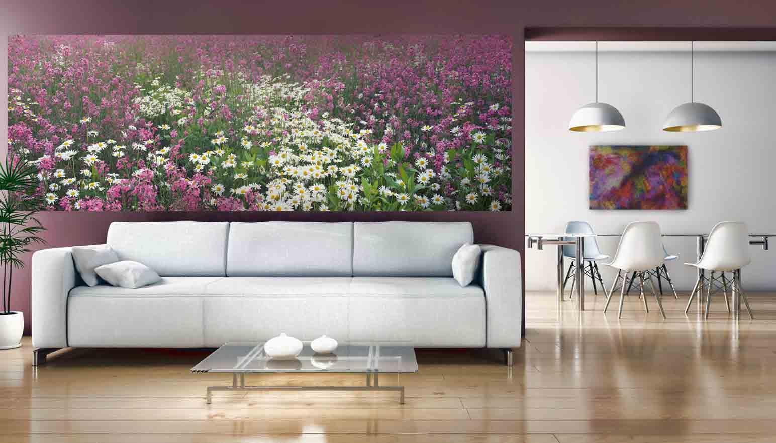Фотообои с цветочными мотивами – изумительная феерия красок