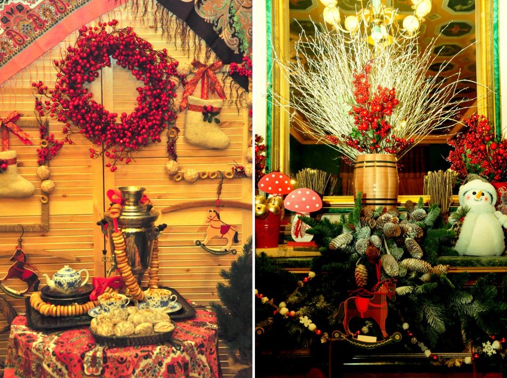 Новогодние украшения в русском стиле