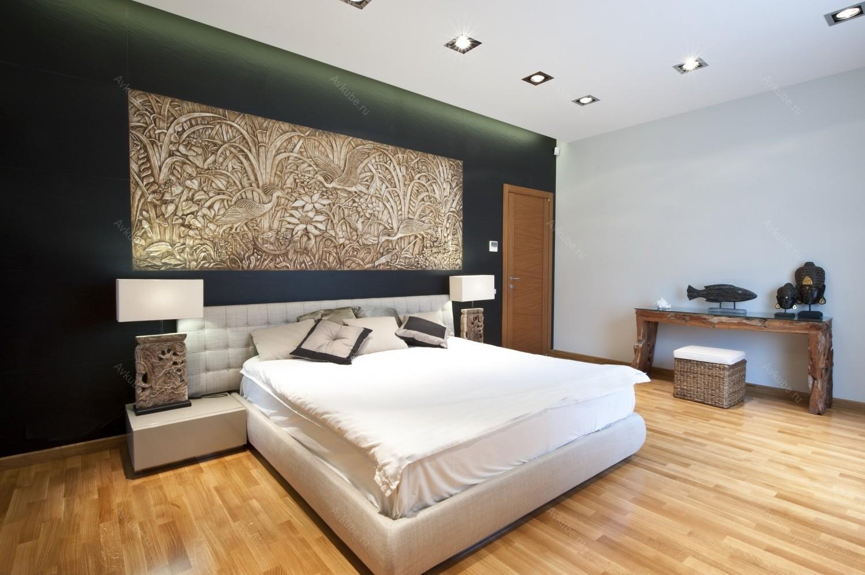 Панно в интерьере спальни и гостиной