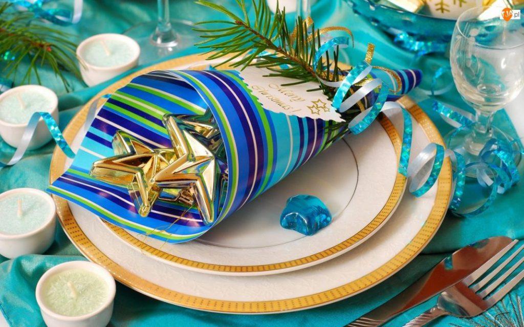 Новогодний стол в морском стиле