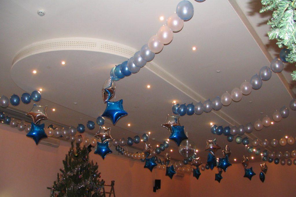 Как украсить потолок в детском саду на новый год