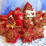 Елочные игрушки в русском стиле