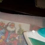 Техника декупажа на ткани с помощью клея ПВА (мастер-класс)
