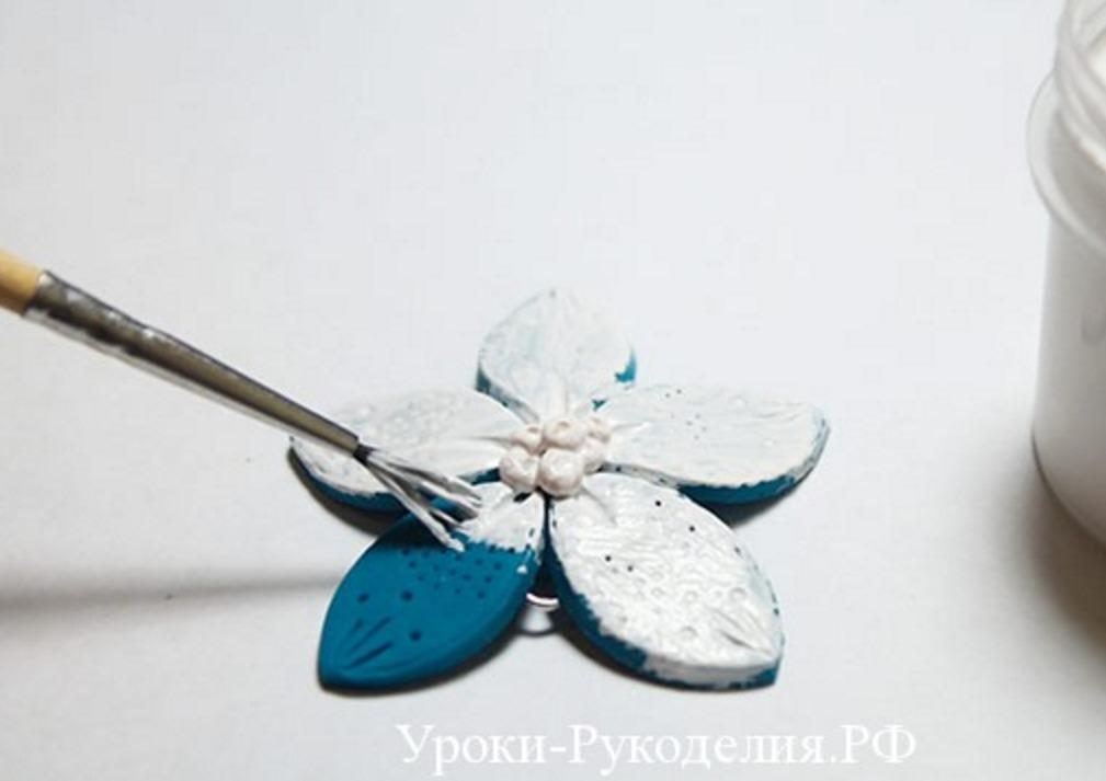 Серьги из полимерной глины мастер-класс