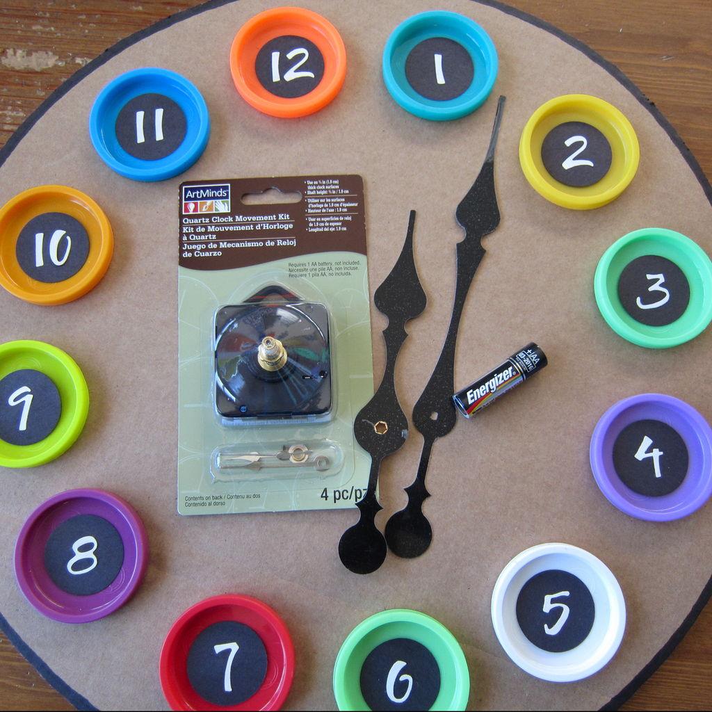 Часы из картона своими руками мастер-класс