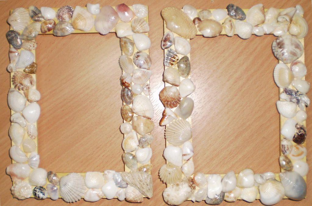 Декоративная рамка с ракушками