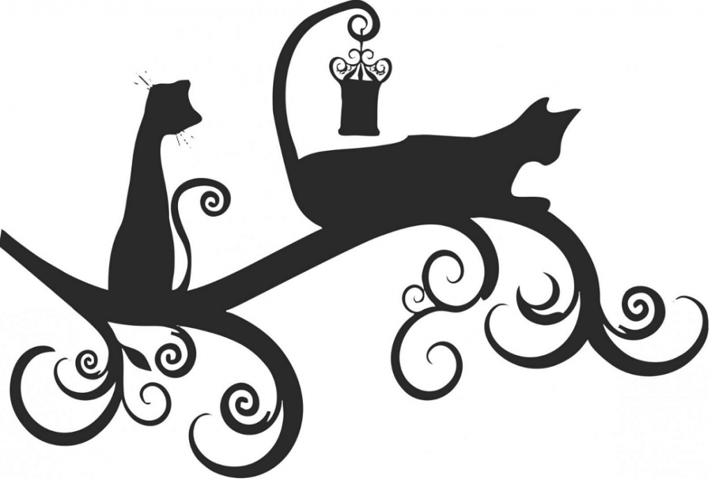 Трафарет на стену в виде кошек