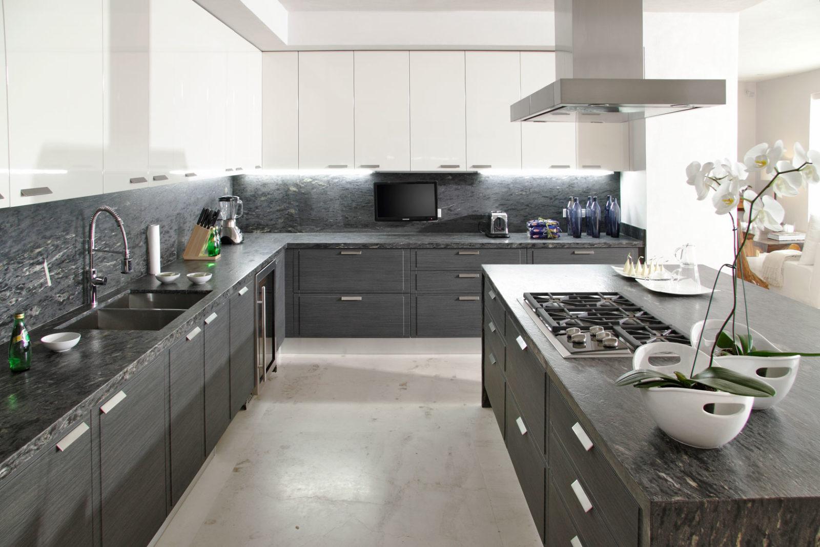 Варианты сочетания серого цвета в интерьере кухни