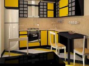 Кухня в желтых тонах