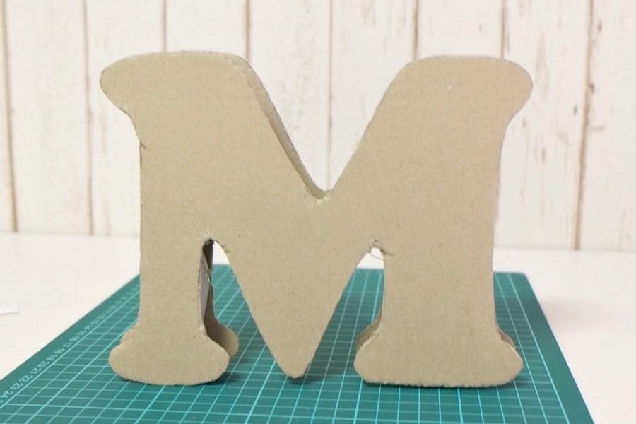 Объемные буквы из картона своими руками