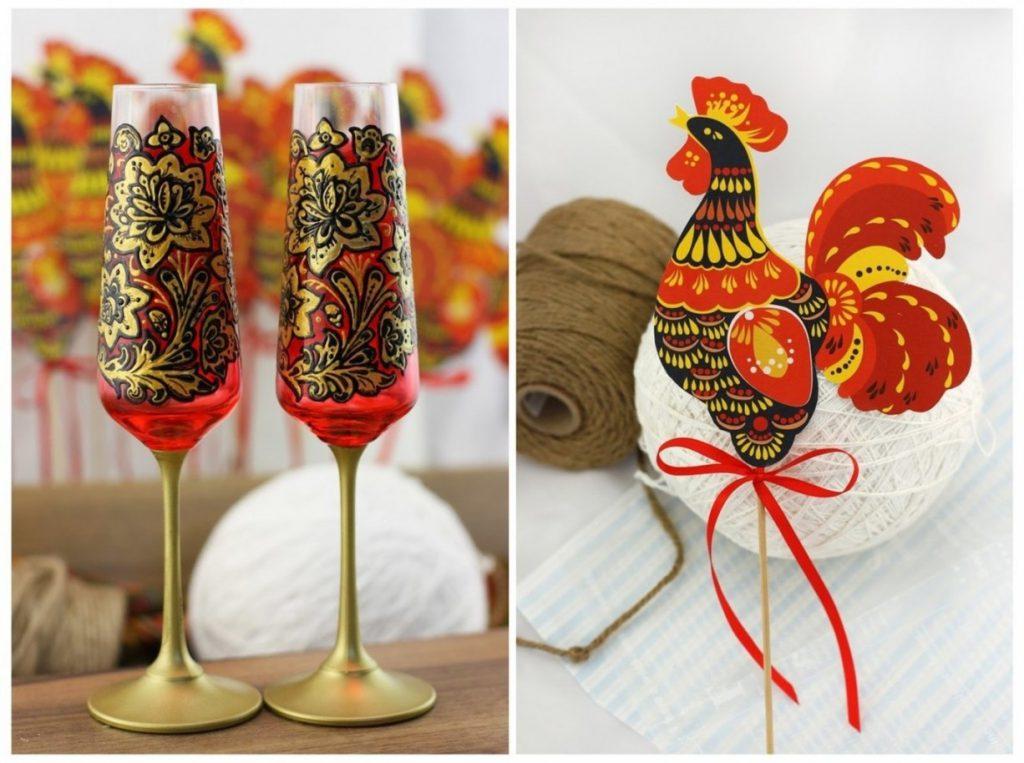 Новогодний декор в русском стиле
