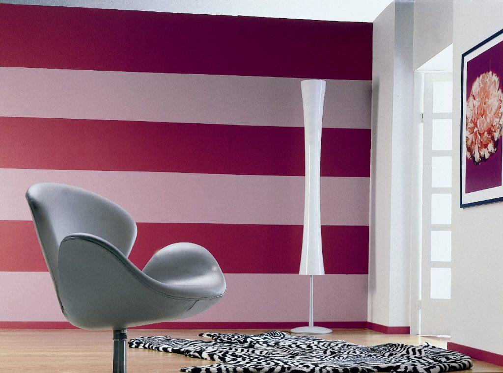 Покраска стен двумя цветами