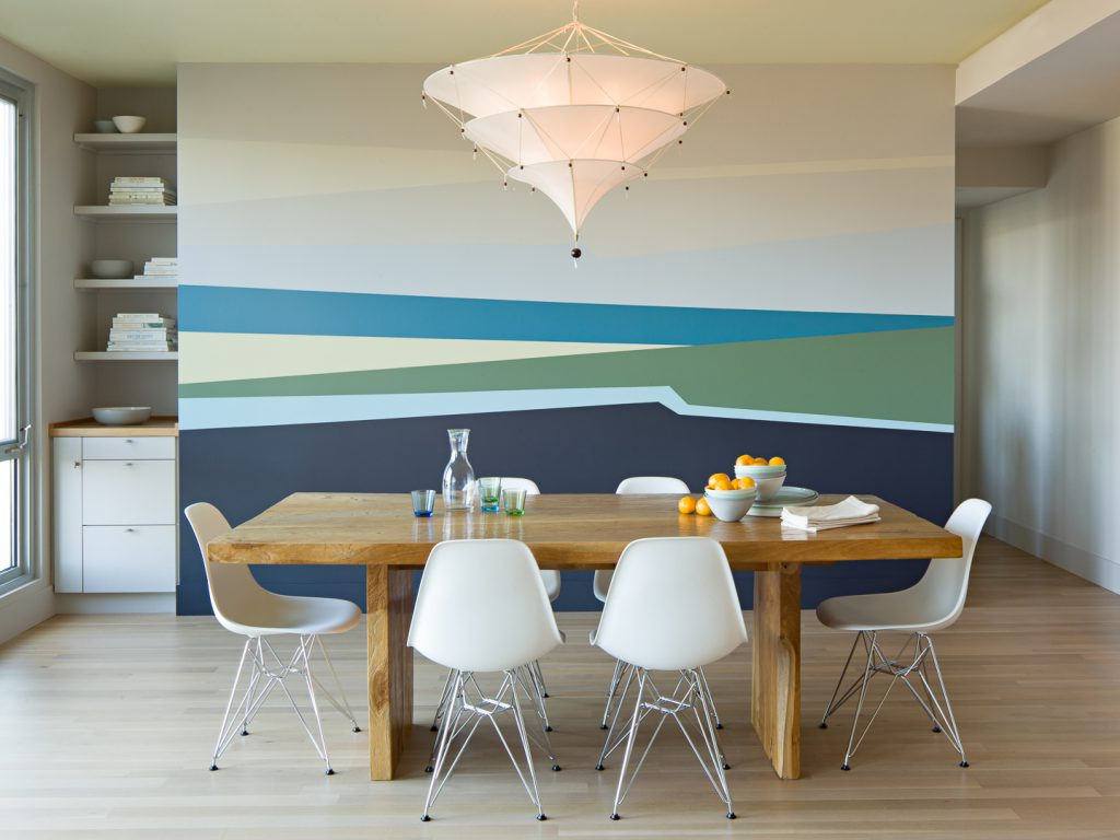 Покраска стен двумя и более цветами