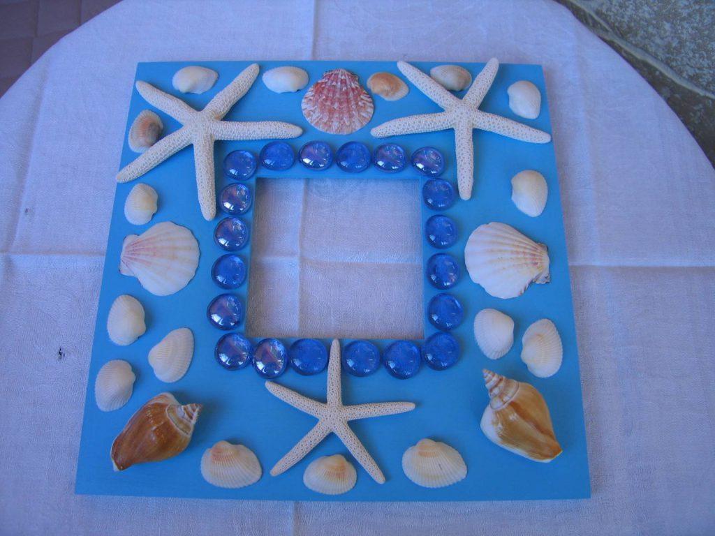 Рамка для фото с морскими ракушками