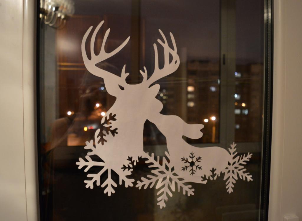 Новогодний шаблон для окна