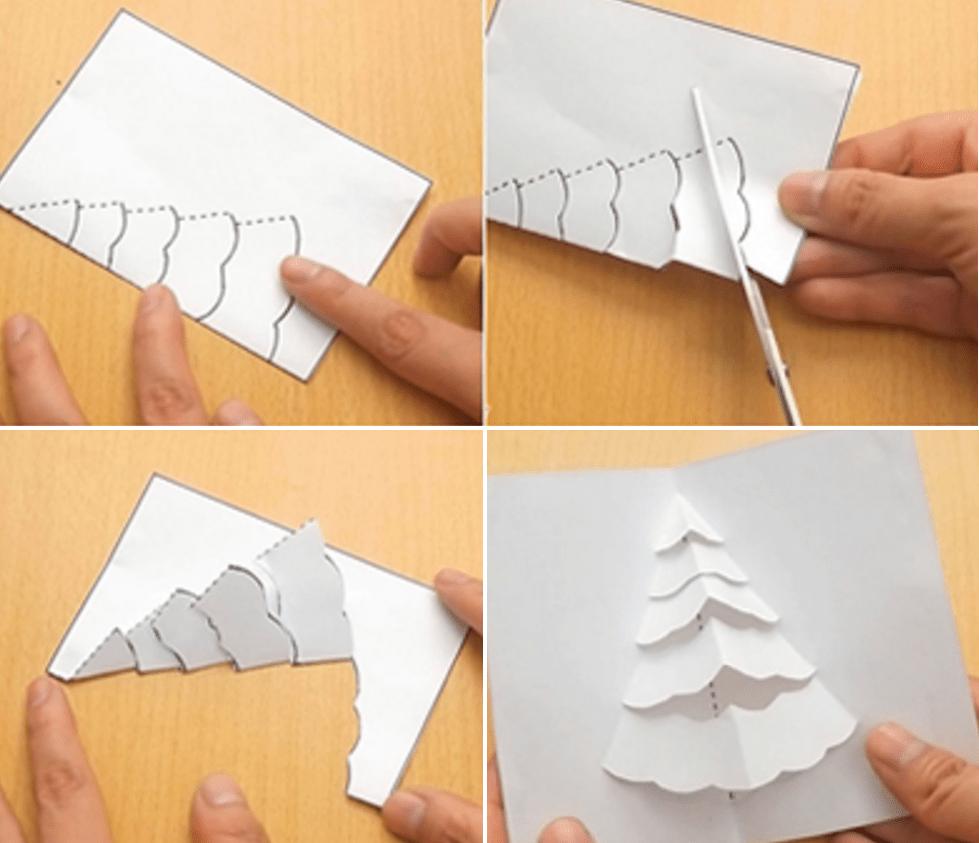 Изготовление открытки по шаблону