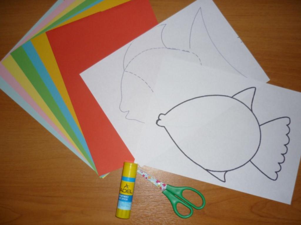 Как сделать рыбку из бумаги