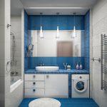 Дизайн небольшой ванной комнаты 5 кв. м: советы по оформлению (+37 фото)