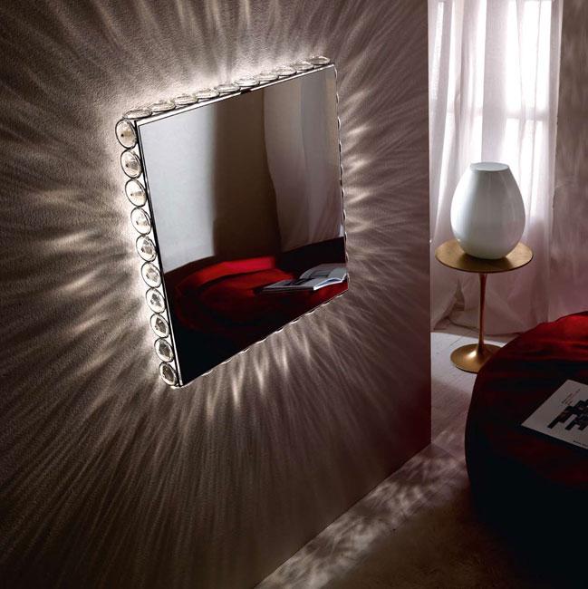точечная подсветка зеркала