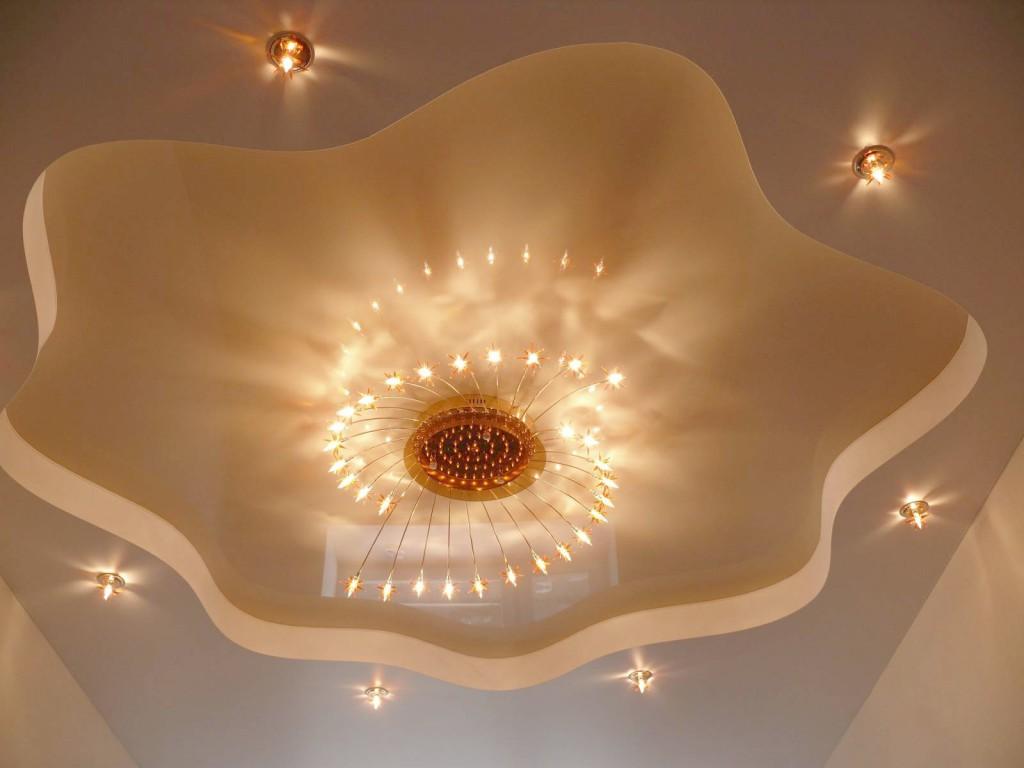 многоуровневые потолки в интерьере