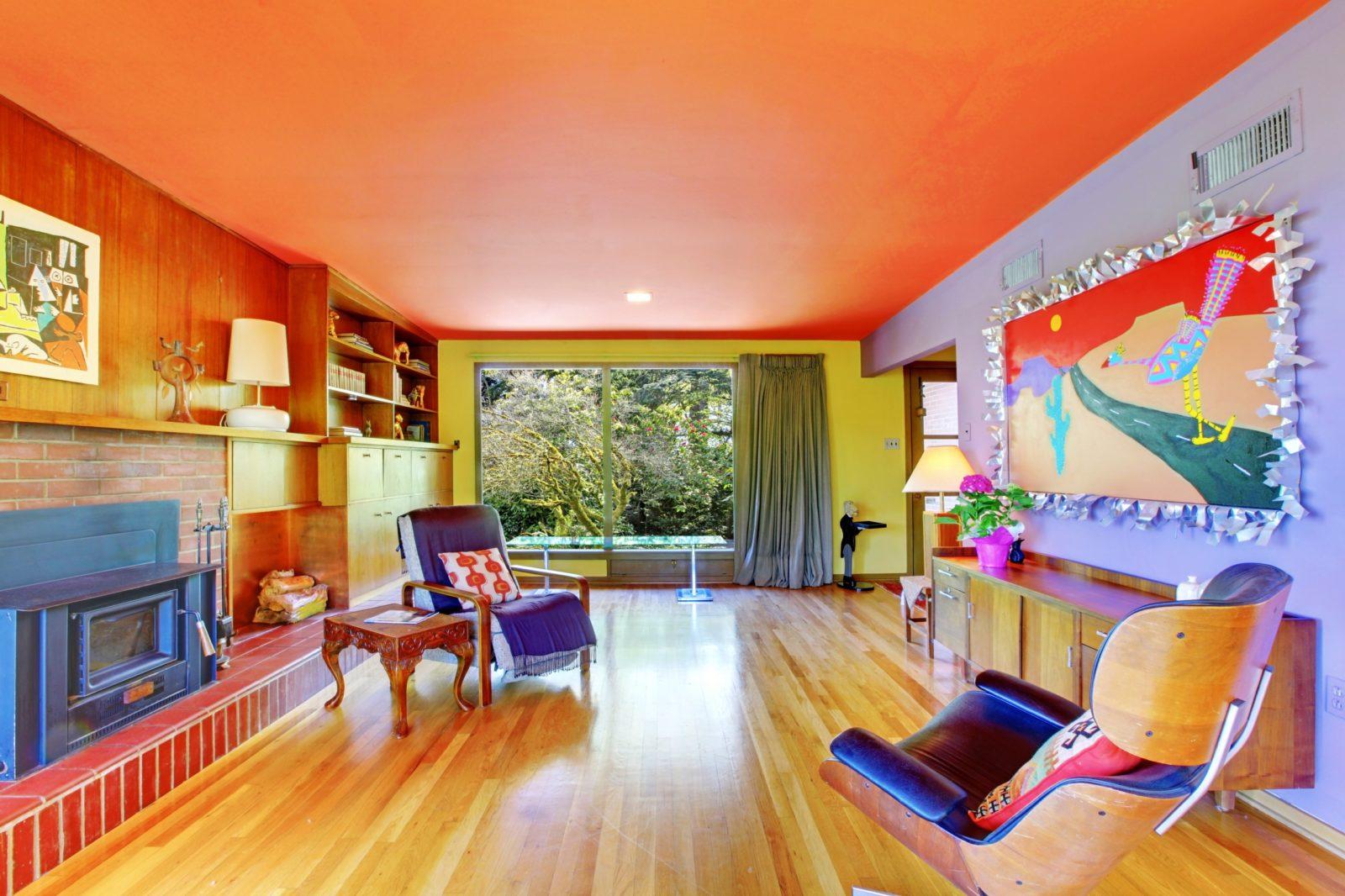 Потолки как скомбинировать цвет