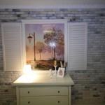Красивое фальшокно с подсветкой для квартиры