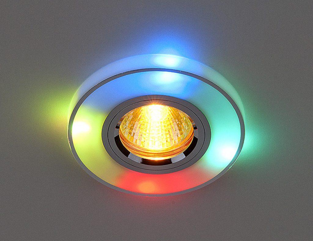Точечный светильник на потолке
