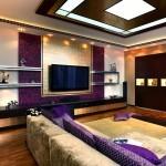 Оформление комнат в лиловом цвете – правила сочетания