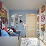Папин сына футболист!:футбольная тематика в интерьере комнаты