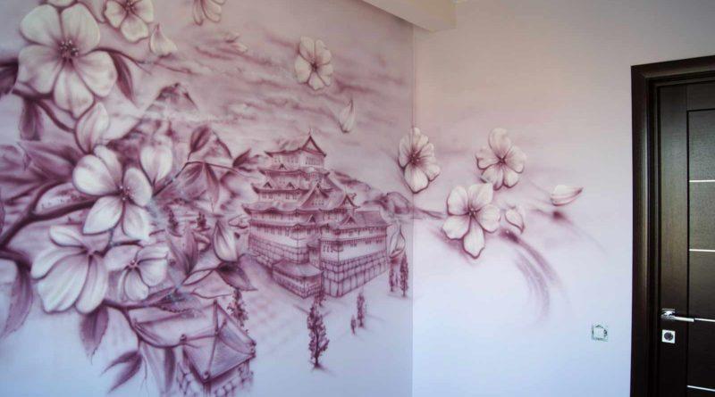 Акварельные стены – нетрадиционное украшение дома