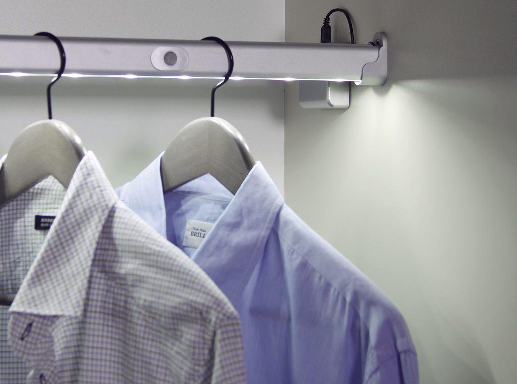 Led-подсветка в гардеробной
