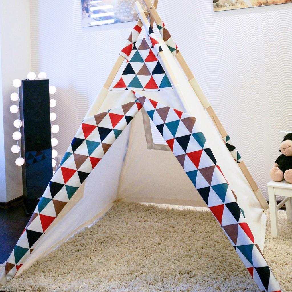 Делаем игровой дом – палатку для детей на балконе (+32 фото)