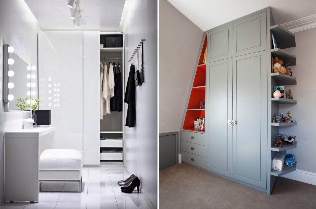 Узкие гардеробные шкафы