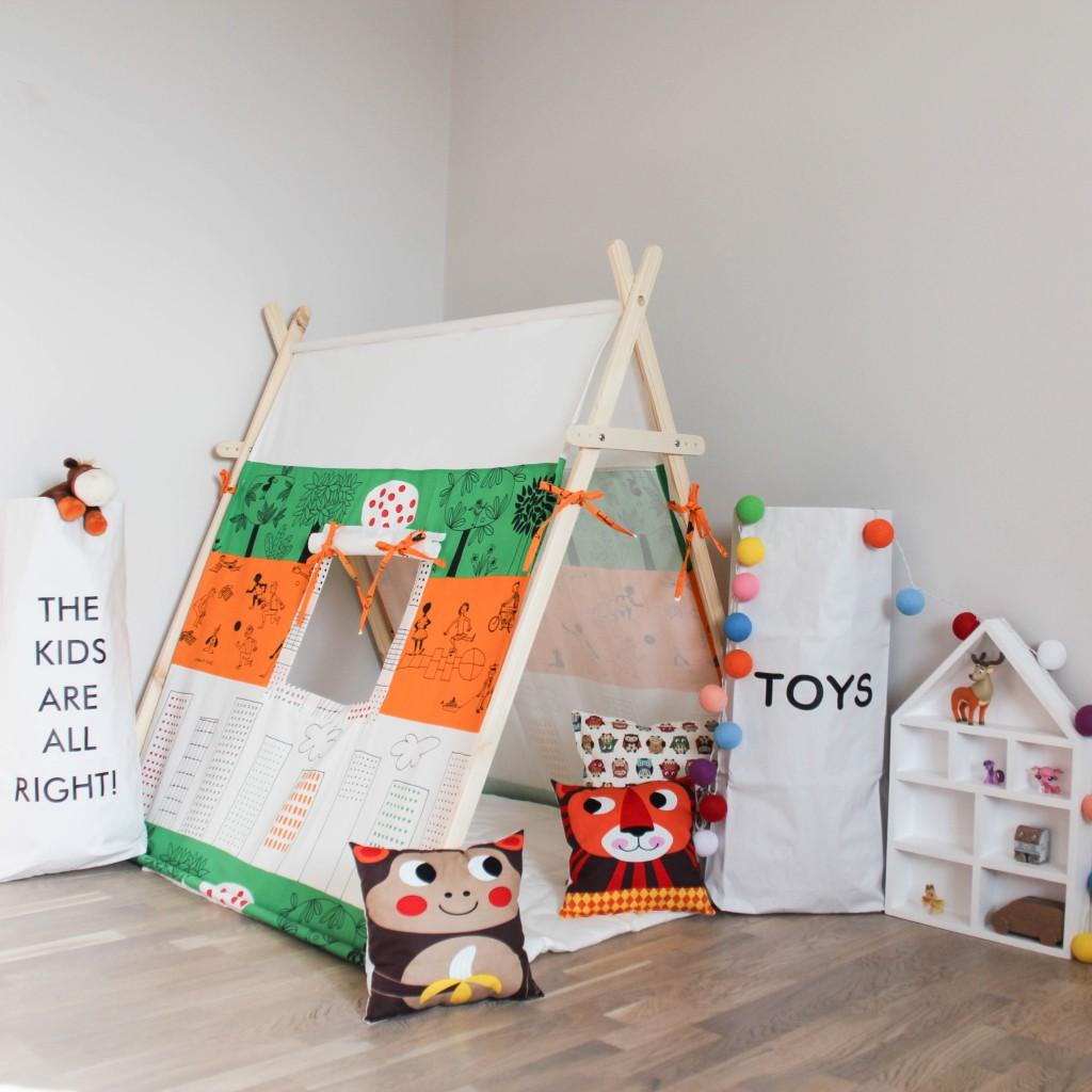 Детская игровая палатка своими руками